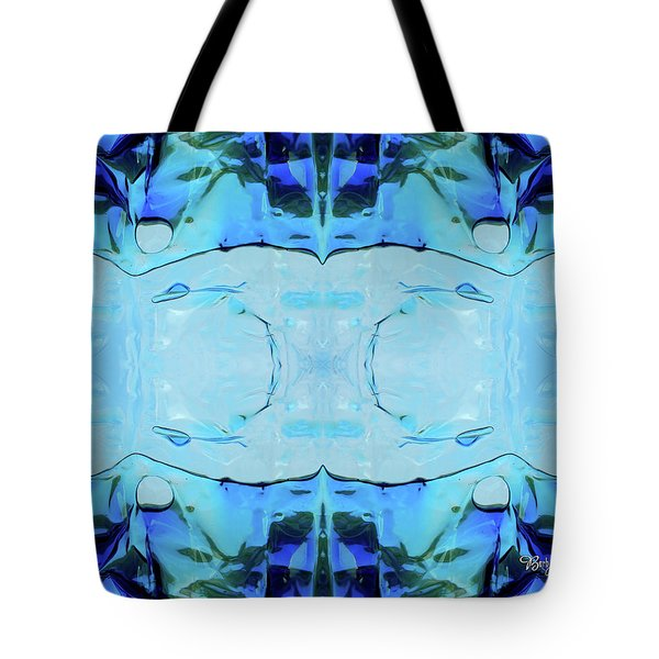 Tote Bag featuring the digital art Liquid Abstract  #0059-2 by Barbara Tristan
