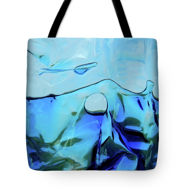 Tote Bag featuring the photograph Liquid Abstract  #0059 by Barbara Tristan