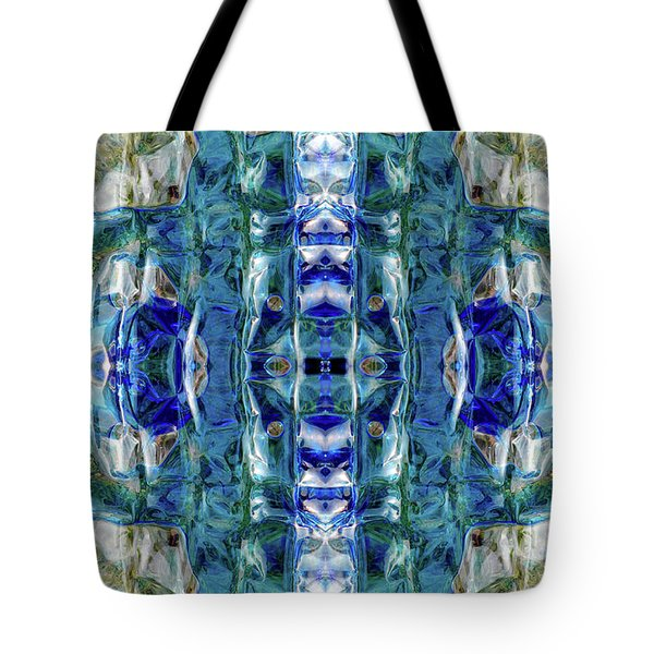 Tote Bag featuring the digital art Liquid Abstract #0061-2 by Barbara Tristan