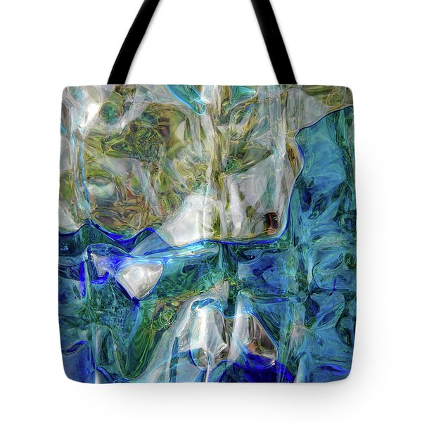 Tote Bag featuring the photograph Liquid Abstract #0061 by Barbara Tristan