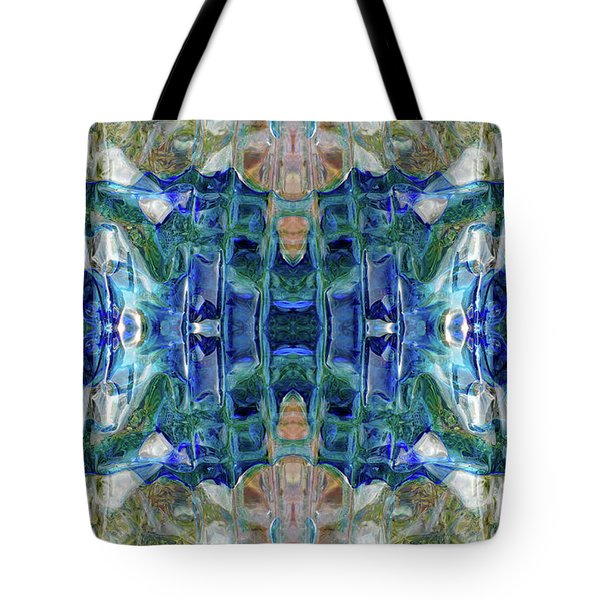 Tote Bag featuring the digital art Liquid Abstract #0061_1 by Barbara Tristan