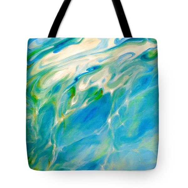 Tote Bag featuring the painting Liquid Assets by Dina Dargo