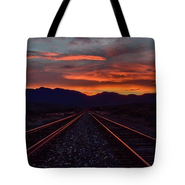 Liquid Copper Flowing Into The Night Tote Bag