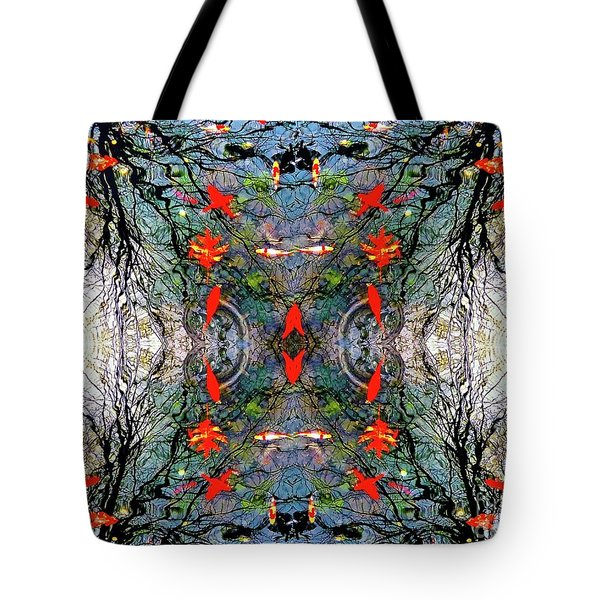 Liquid Geometry Tote Bag
