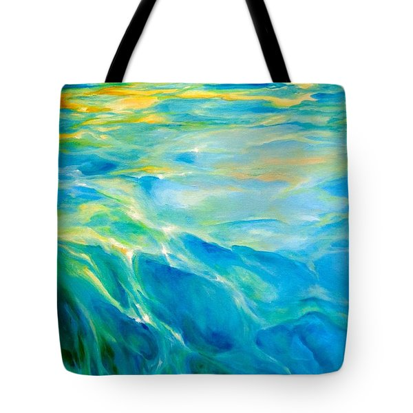 Liquid Gold Tote Bag by Dina Dargo