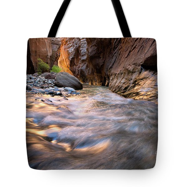 Liquid Gold Utah Adventure Landscape Photography By Kaylyn Franks Tote Bag