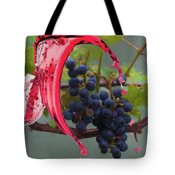 Tote Bag featuring the photograph Liquid Grape Spill by Dan Friend
