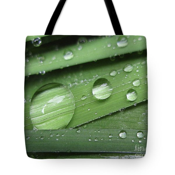 Liquid Light On Iris Tote Bag