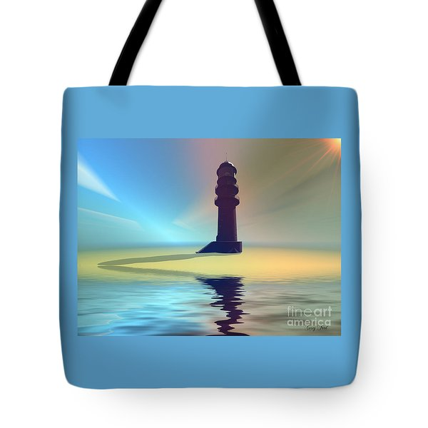 Liquid Lights Tote Bag by Corey Ford