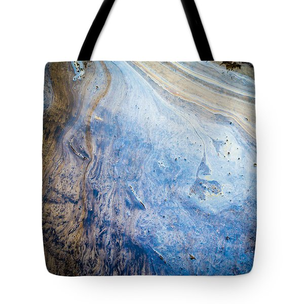 Liquid Oil On Water With Marble Wash Effects Tote Bag
