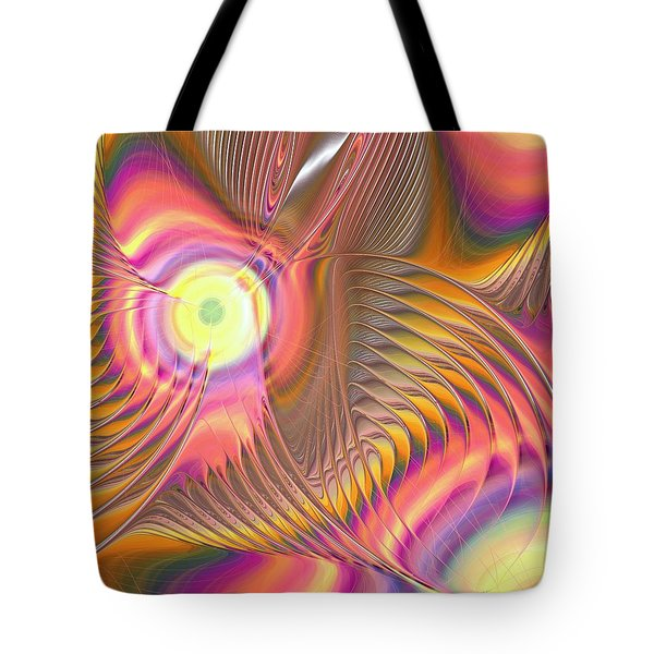 Tote Bag featuring the digital art Liquid Rainbow by Anastasiya Malakhova