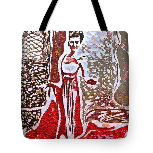 Liquid Red Tote Bag