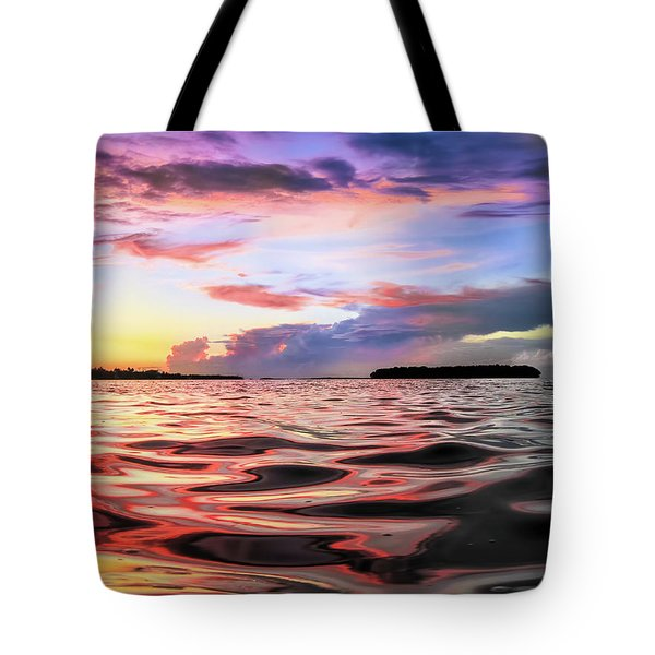 Liquid Red Tote Bag