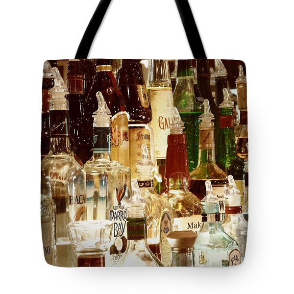 Liquor Bottles Tote Bag by Methune Hively