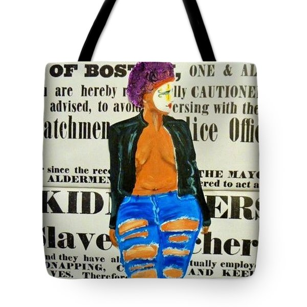 Lisa  Caution Tote Bag by Deedee Williams