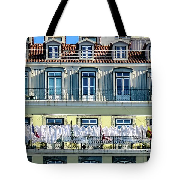 Lisbon Laundry Tote Bag by Marion McCristall