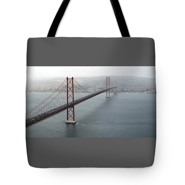 Lisbon On A Foggy Day Tote Bag