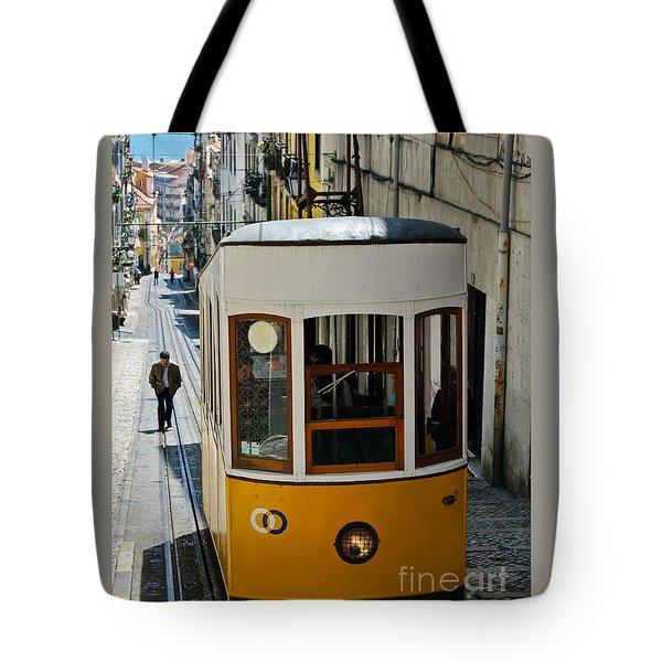 Lisbon - Portugal - Elevador Da Bica Tote Bag