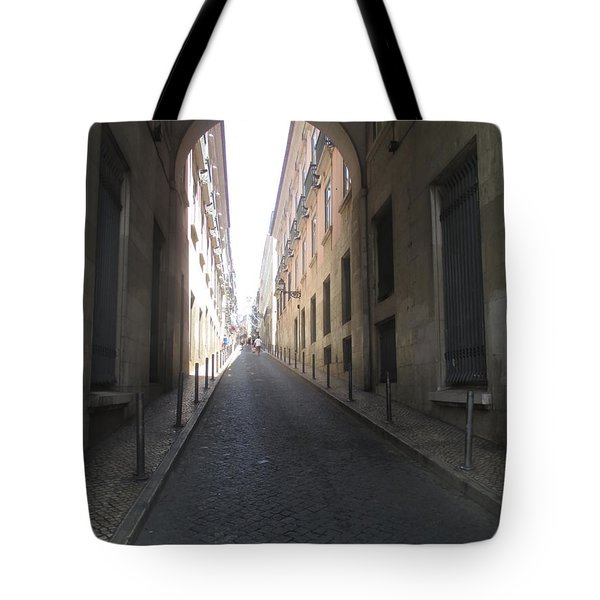 Lisbon Seen Through An Old Arc Tote Bag