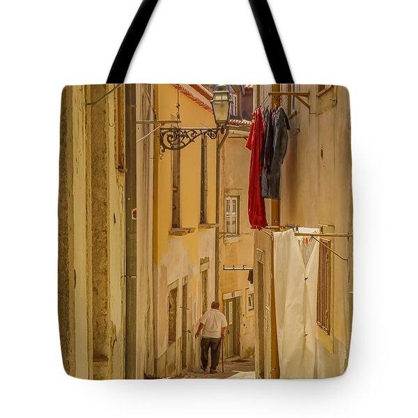 Lisbon Street # 1 Tote Bag