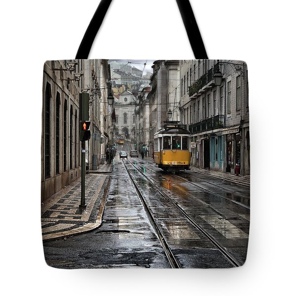 Tote Bag featuring the photograph Lisbon Streets by Jorge Maia