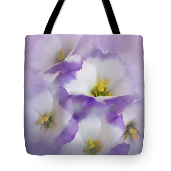 Tote Bag featuring the photograph Lisianthus Grouping by David and Carol Kelly