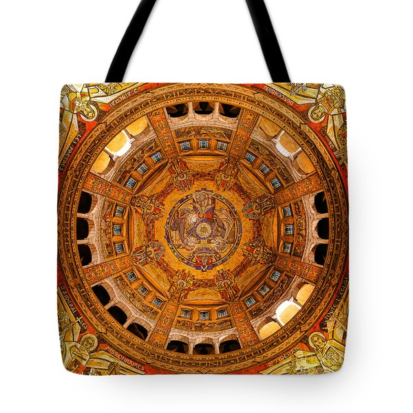 Lisieux St Therese Basilica Dome Ceiling Tote Bag
