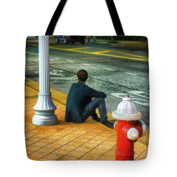 Tote Bag featuring the photograph Listening  by Beth Akerman