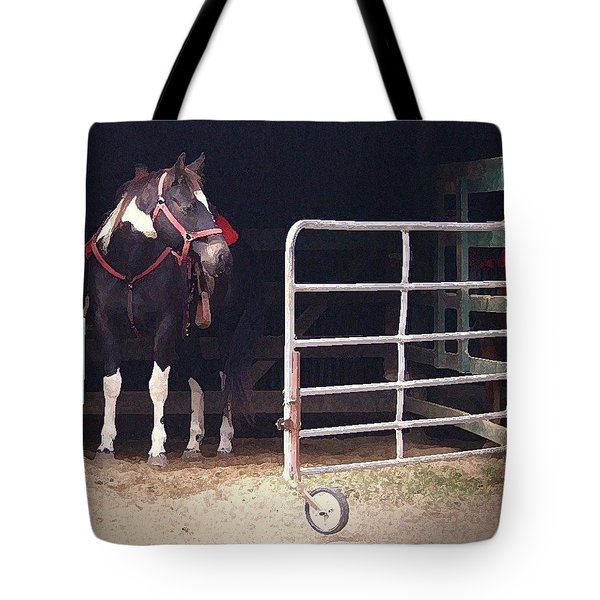 Tote Bag featuring the digital art Listening For My Turn by Kim Henderson
