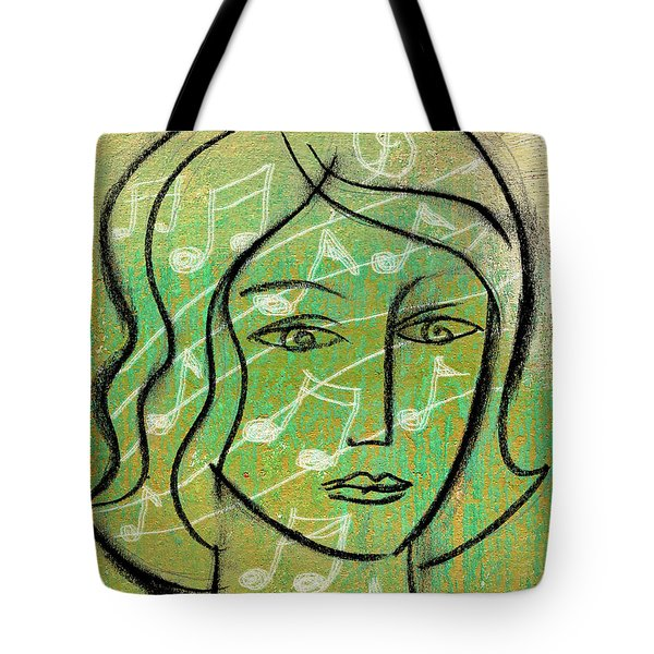 Tote Bag featuring the painting Listening To Music by Leon Zernitsky