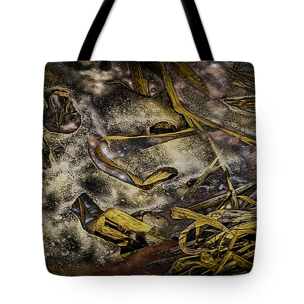 Listening To The Semifrozen Marsh Tote Bag