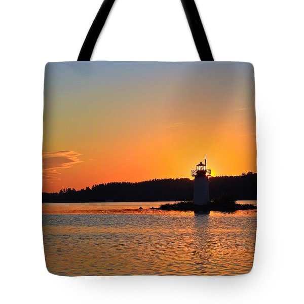 Lit By The Sun Tote Bag