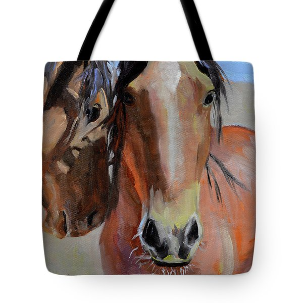 Tote Bag featuring the painting Litchfield Homies by Pattie Wall