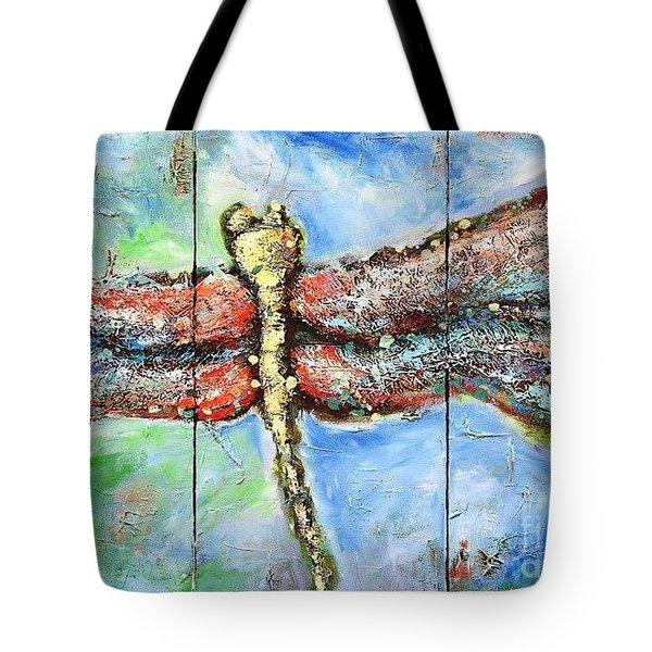 Tote Bag featuring the painting Lite Brite by Annie Young Arts