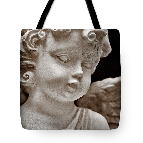 Little Angel - Sepia Tote Bag by Christopher Holmes