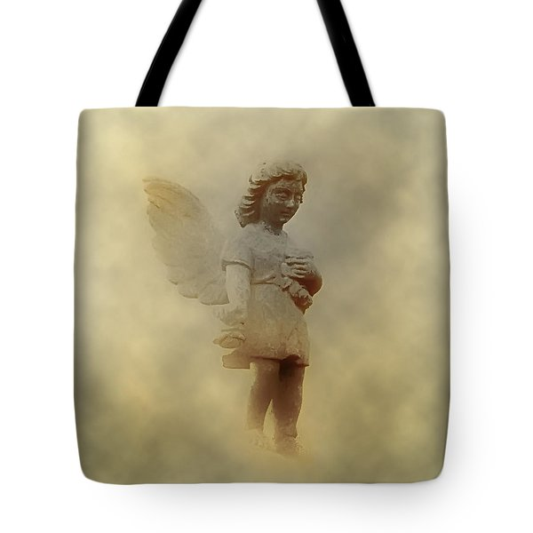 Little Angel In The Clouds Tote Bag by Bill Cannon