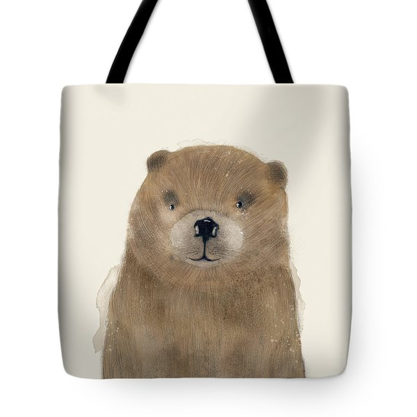 Tote Bag featuring the painting Little Beaver by Bri B