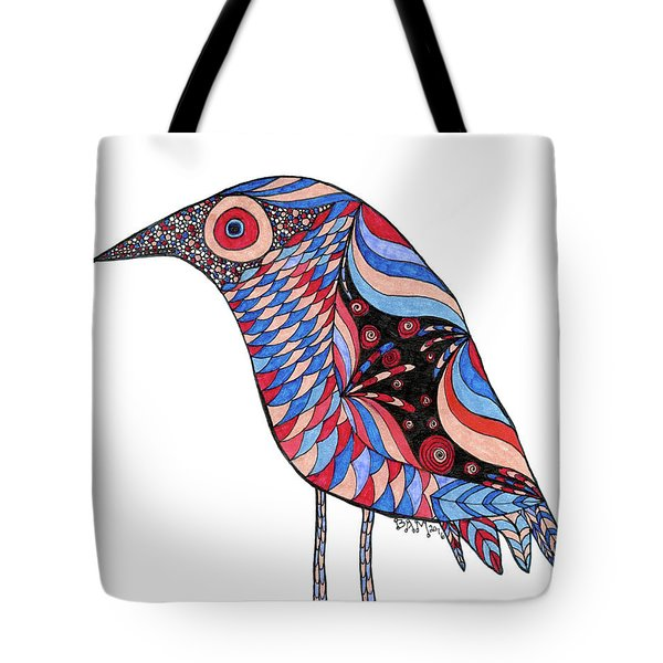 Tote Bag featuring the drawing Little Bird by Barbara McConoughey