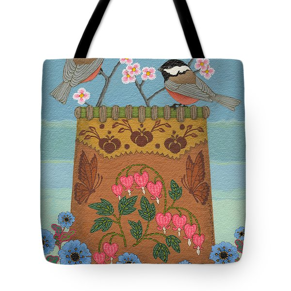 Tote Bag featuring the painting Little Bird by Chholing Taha