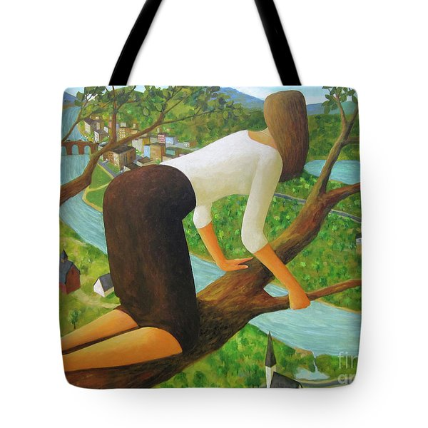 Tote Bag featuring the painting Little Bird by Glenn Quist