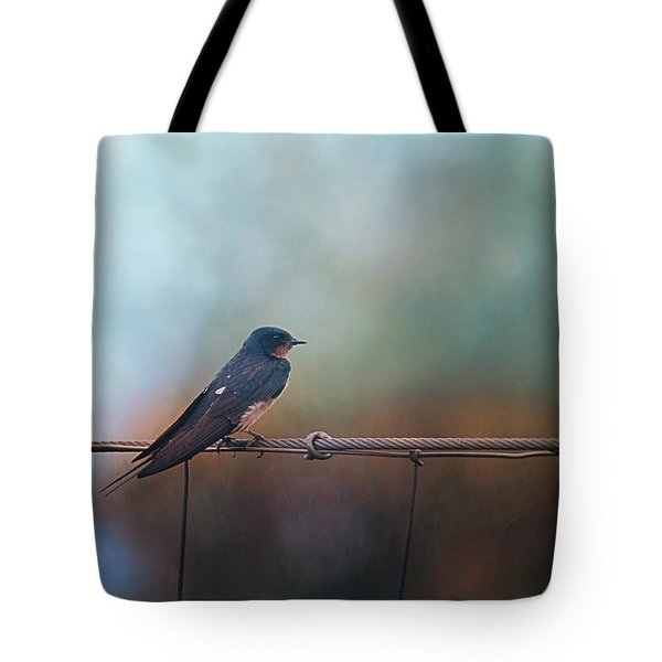 Little Bird On A Wire  Tote Bag