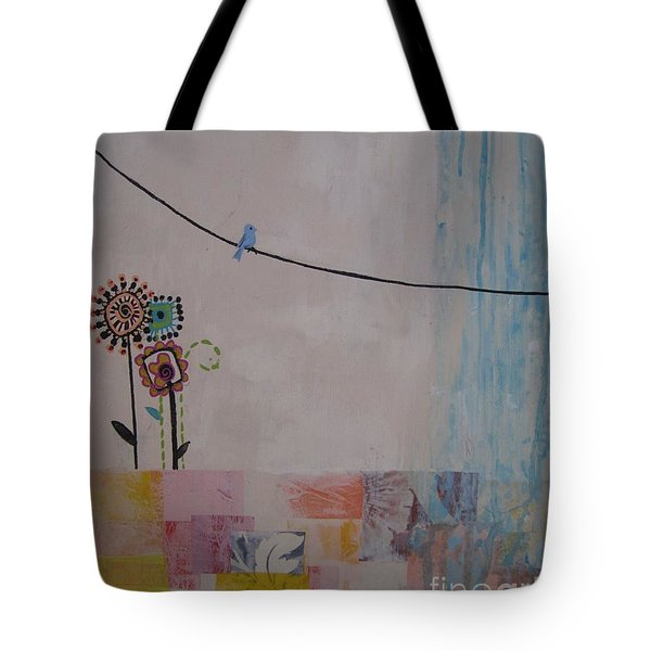 Little Birdie Tote Bag by Ashley Price