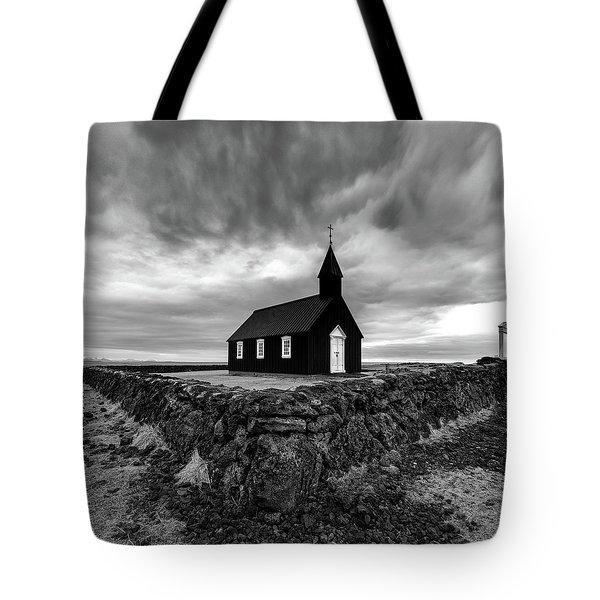 Little Black Church 2 Tote Bag