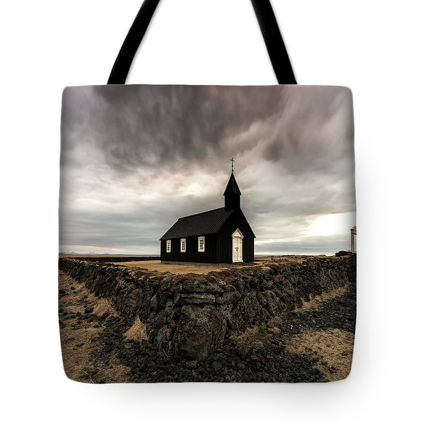 Little Black Church Tote Bag