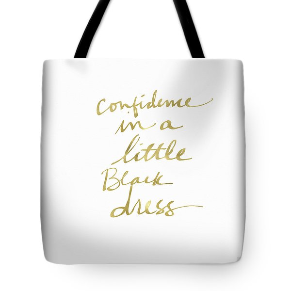Little Black Dress Gold- Art By Linda Woods Tote Bag
