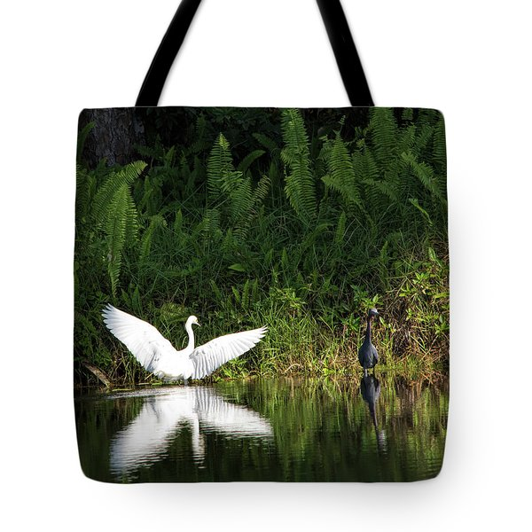 Little Blue Heron Non-impressed Tote Bag