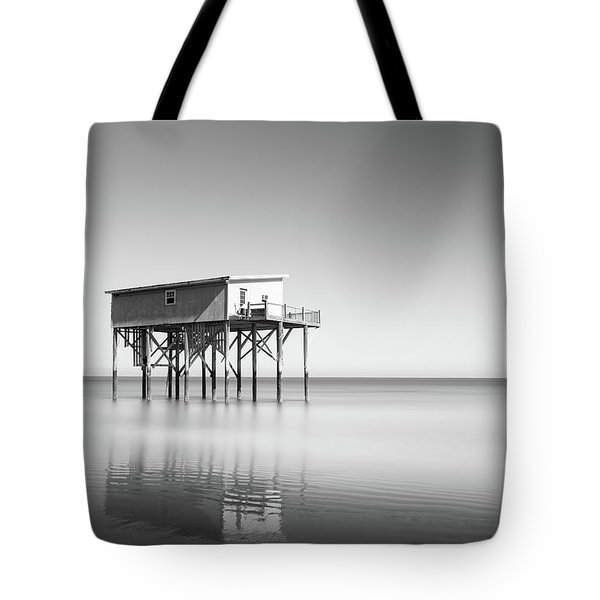 Little Blue In Black And White Tote Bag