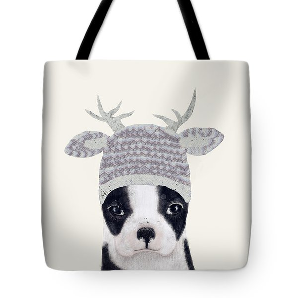 Tote Bag featuring the painting Little Boston Deer by Bri B