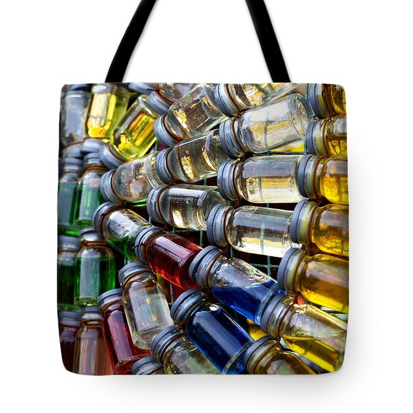 Little Bottles Of Sunshine Tote Bag by Rebecca Davis