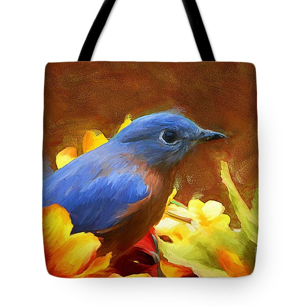 Little Boy Blue Tote Bag by Tina  LeCour